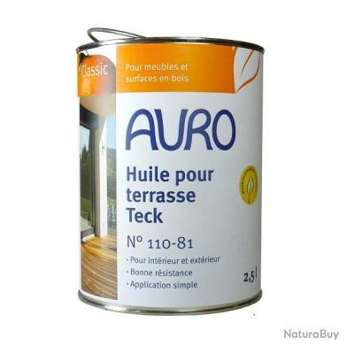 Auro huile pour terrasse teck 2 5l n 110 8 huile pour bois 2243025 - Huile teintee pour teck ...