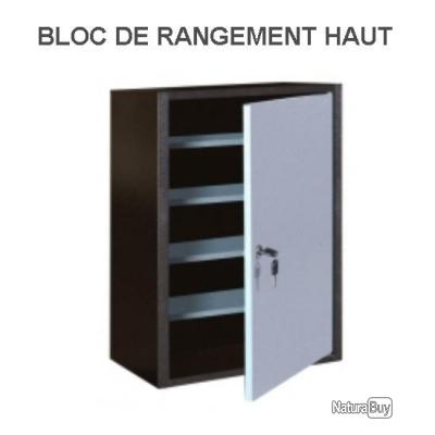 Outifrance bloc de rangement haut 1 porte 2 tag res armoire etag re de - Bloc etagere modulable ...