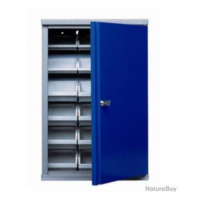 kupper armoire murale 1 porte et 18 boites de rangement. Black Bedroom Furniture Sets. Home Design Ideas