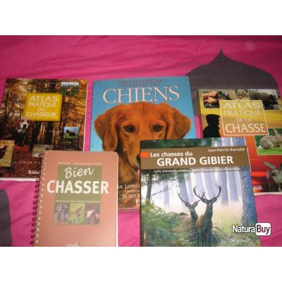5 livres chasse et chien