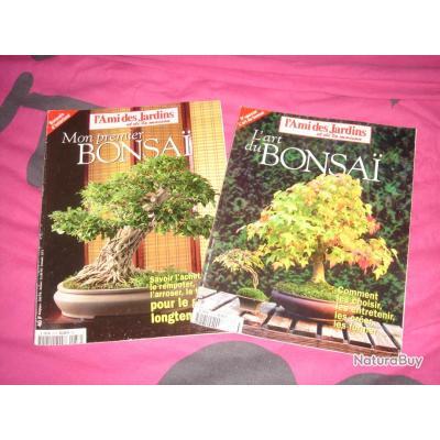 2 livres sur les bonzai