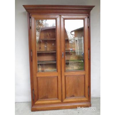 biblioth que ancienne pouvant se transformer en vitrine. Black Bedroom Furniture Sets. Home Design Ideas