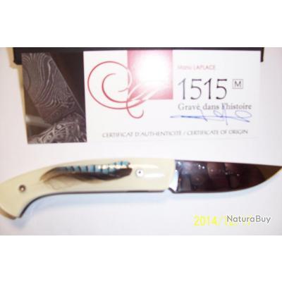 couteaux thiers 1515 motif  plume de geai