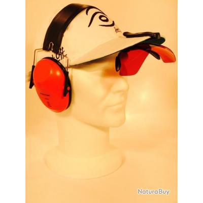 Hat Clip Rouge - Lunettes de Trap fixation sur casquette