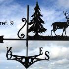 GIROUETTE DE TOIT motif: cerf