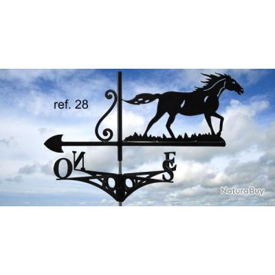 girouette de toit motif cheval d corations de jardin 2380076. Black Bedroom Furniture Sets. Home Design Ideas