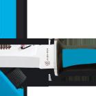 couteaux de plongée acier 440 inox couleur bleue