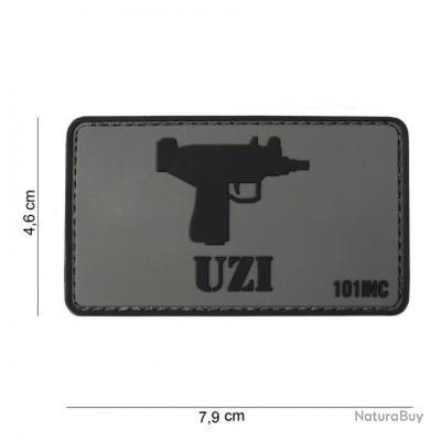 AIRSOFT  - Patch 3D PVC UZI  - 444130-3755