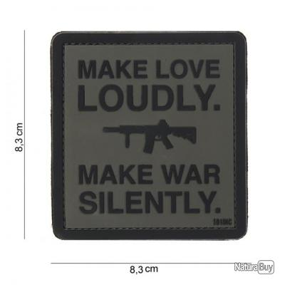 AIRSOFT  -  Patch 3D PVC Make love loudly 2 - 444180-3846
