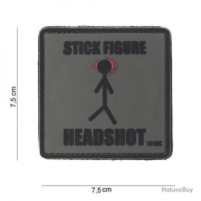 AIRSOFT  -  Patch 3D PVC Stick figure  - 444180-3847