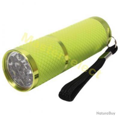 Lampe Torche De Poche Avec Manche Phosphorescent 9 Leds Puissante
