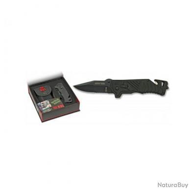 couteau rui avec coupe ceinture et brise vitre noir en boite couteaux tactiques et de combats. Black Bedroom Furniture Sets. Home Design Ideas