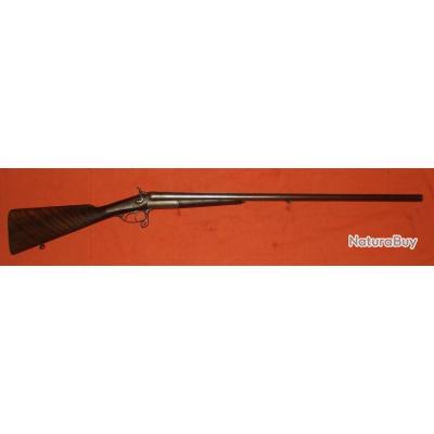 beau fusil de chasse juxtapos a chien canon damas calibre 16 65 fin xixeme fusils juxtapos s. Black Bedroom Furniture Sets. Home Design Ideas
