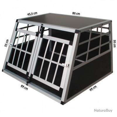 cage double pour chien 89x69x50 cages caisses sacs et remorques de transport 2496822. Black Bedroom Furniture Sets. Home Design Ideas