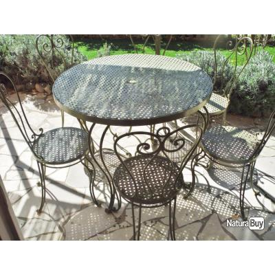 Salon jardin fer forge occasion nancy 37 for Petit salon de jardin en fer forge