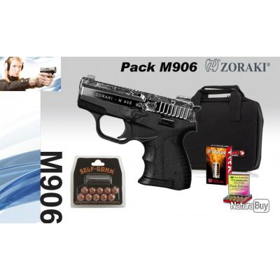 Pack zoraki m906 shiny chrome grav arme de d fense cal for Arme defense maison