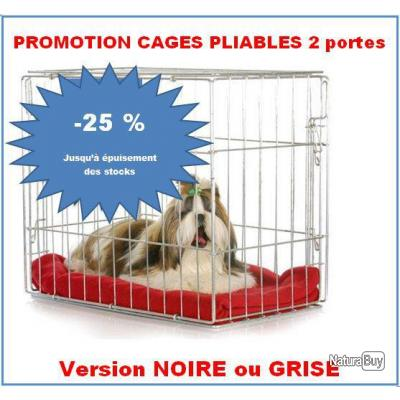 PROMOTION -25% - Cage pliable Noire 61cm X 46cm X 51cm