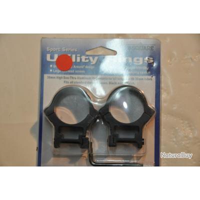 Anneaux de montage de lunette Utility Rings 21mm (Haut, diam 30 mm)