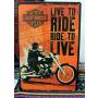 "plaque m�tal   ""harley davidson""  ""live to ride"" 20cmx30cm (ref.0001)"
