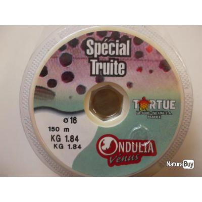 Fil spécial truite 16/100 150 m TORTUE LOT DE 8 BOBINES