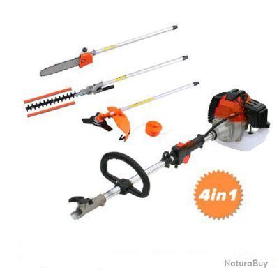 099b7a6109b Kit taille-haie tronçonneuse débroussailleuse complet orange 4 en 1 Neuf  brush cutter new