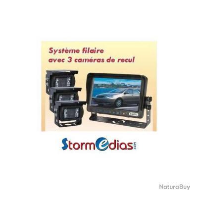 kit 3 cam ras de recul 150 cran lcd 7 pouces avec visi re accessoires divers 2660443. Black Bedroom Furniture Sets. Home Design Ideas