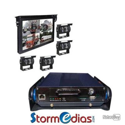 kit cam ra de recul 15 pouces 12 36v cf usb rca support 4 cameras dvr accessoires. Black Bedroom Furniture Sets. Home Design Ideas