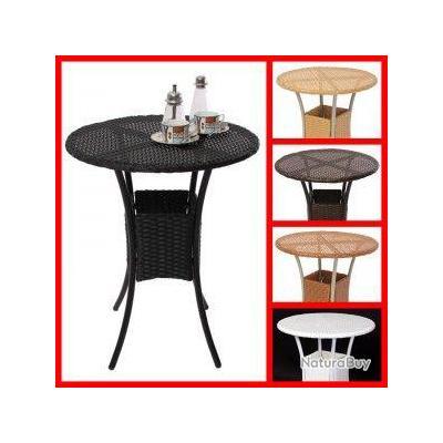 Table De Jardin M19 Poly Rotin Ronde 60x60x75cm A01 Mobilier 2664891