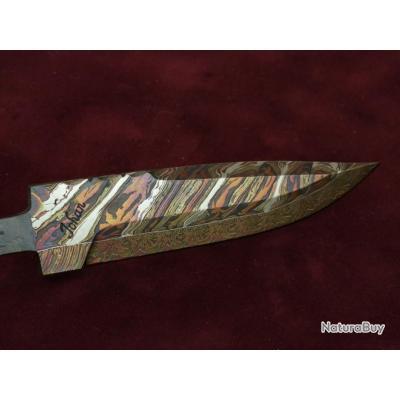 Johan gustafsson lame de couteau droit en damas mosa que flow neuf couteaux droits et - Comment bien aiguiser un couteau ...