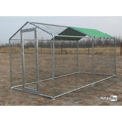poulailler geant 4x2x2 25m abri poule caille enclos voliere cage oiseau voliere de jardin 13cl. Black Bedroom Furniture Sets. Home Design Ideas