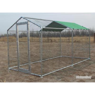 Poulailler GEANT 4x2x2,25m abri poule caille enclos voliere cage oiseau voliere de jardin 13CL 13O