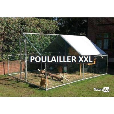 poulailler geant 4x3x2m abri poule caille pintade lapin chenil chien chatiere enclos chat 13cl. Black Bedroom Furniture Sets. Home Design Ideas