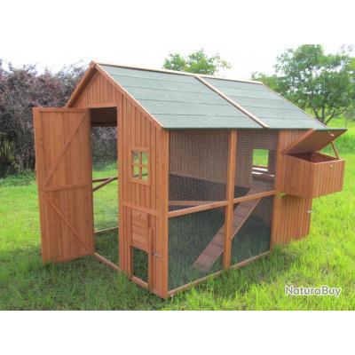 poulailler 18 poules clapier abri poule lapin coq caille volaille neuf 13cl poulaillers. Black Bedroom Furniture Sets. Home Design Ideas