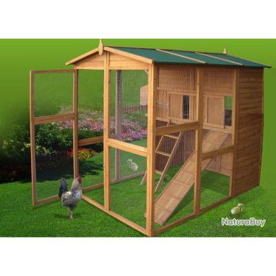 poulailler geant abri poule clapier lapin caille volaille voliere oiseau 13cl poulaillers. Black Bedroom Furniture Sets. Home Design Ideas
