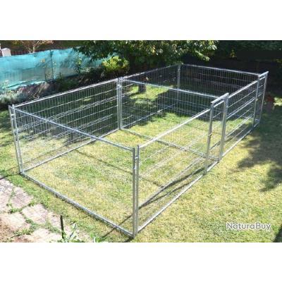 chenil renforce 2x12 5 m enclos chien double parc chien. Black Bedroom Furniture Sets. Home Design Ideas