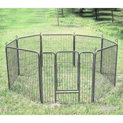 Enclos chien parc chien cage chien Long 80 x Haut 80 13C cielterre-commerce