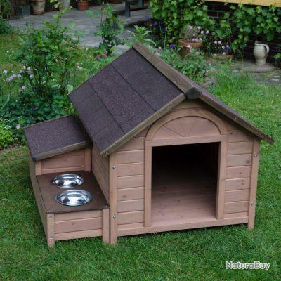 niche chien abri chien grande niche gamelles 13c niches 2724962. Black Bedroom Furniture Sets. Home Design Ideas