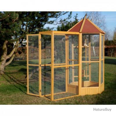 Voli re de jardin cage oiseau bois pigeon colombe geante for Creer une voliere exterieur
