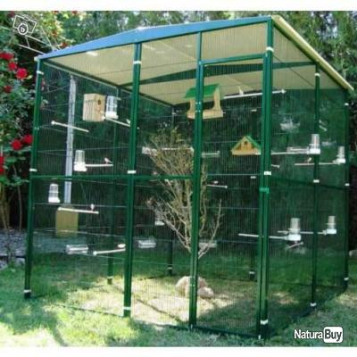 voliere 4m voliere jardin 2m x 2m x2m xxl exterieur cage oiseau 13o cages oiseaux et. Black Bedroom Furniture Sets. Home Design Ideas