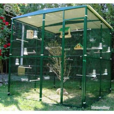 Voliere 4m voliere jardin 2m x 2m x2m xxl exterieur cage for Voliere oiseau exterieur