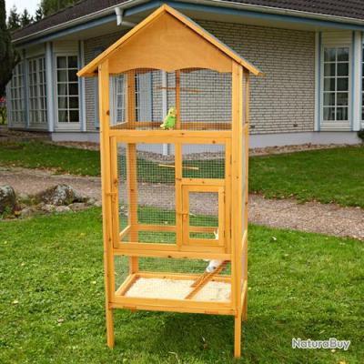 Voliere exterieur en bois cage oiseau NEUF 13O