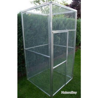 Voli re geante 1x1x2m cage oiseau jardin 13o cages for Oiseau de voliere exterieur