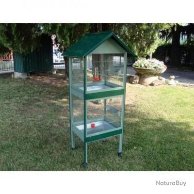 voli re double cage oiseau perruche canari 13o cages oiseaux et voli res 2725649. Black Bedroom Furniture Sets. Home Design Ideas