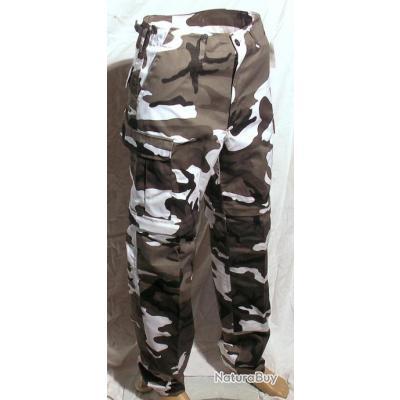 chaussures de séparation 08d3a 26485 Pantalon/Short treillis armée militaire camouflage URBAN Airsoft Chasse  Peche