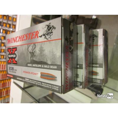 20 balles winchester 308 win 180 grains power point