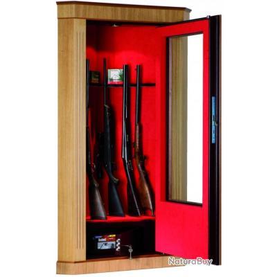 Armoire fusils porte vitr e 8 armes mod le d 39 angle bois - Porte vitree pour meuble ...