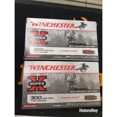 balles winchester cal 300 WM 150grains power point