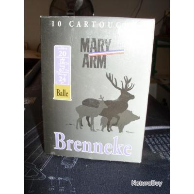 MARY ARM BRENNEKE  CALIBRE 20 (boite de 10 cartouches)