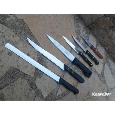 Lot de 6  couteaux  pour couper et dépecer prix en baisse !!! profitez en PRIX EN BAISSE !!!