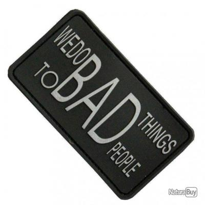 Morale patch We Do Bad Things NB Noir